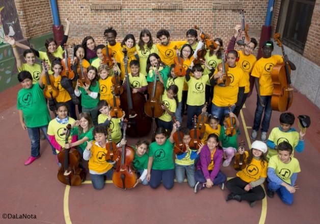 clase de violin para niños