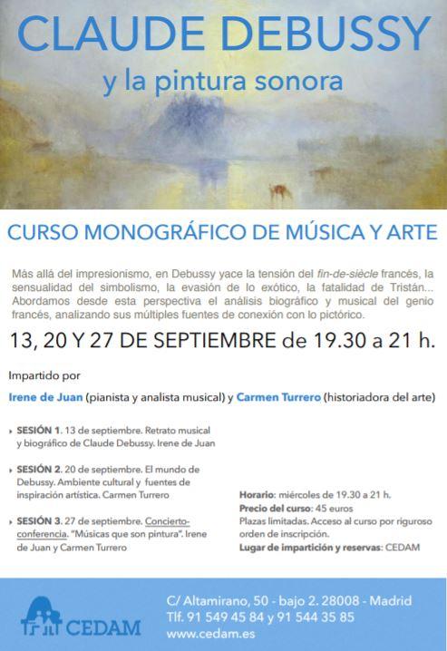 Curso de Música Debussy y la Pintura sonora