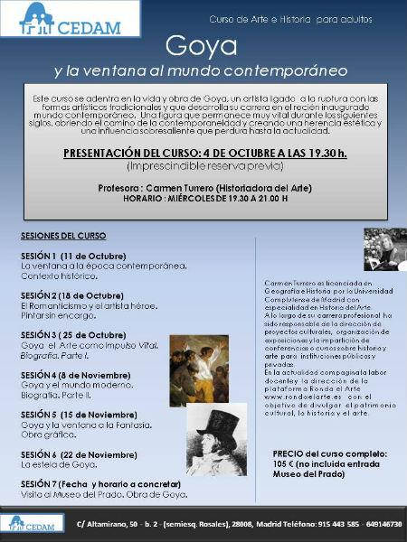 Cartel Curso sobre Goya